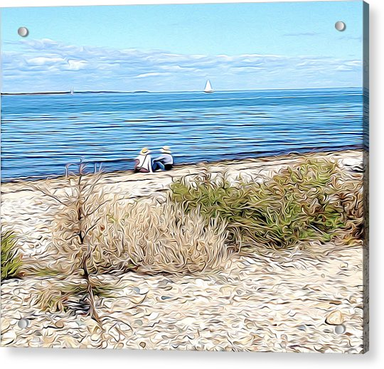 Shelter Island Beach Acrylic Print