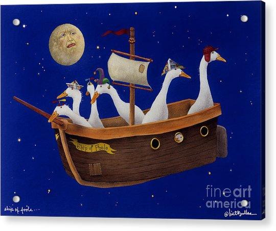 Ship Of Fools... Acrylic Print by Will Bullas