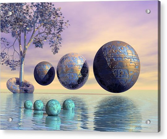 Silent Seven - Surrealism Acrylic Print