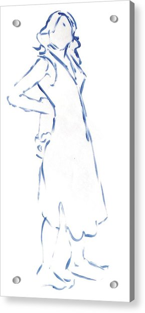 Silhouetted Woman Standing Acrylic Print