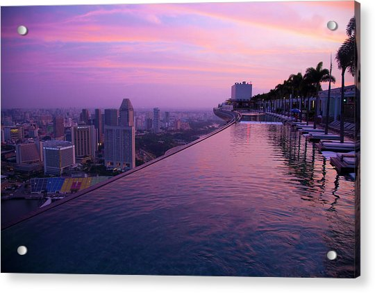 Singapore, Marina Bay Sands Hotel Acrylic Print by Jaynes Gallery