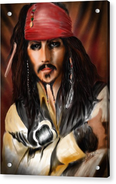 Sketching A Pirate... Acrylic Print