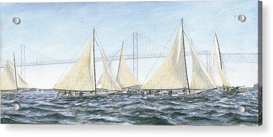 Skipjacks Racing Chesapeake Bay Maryland Acrylic Print