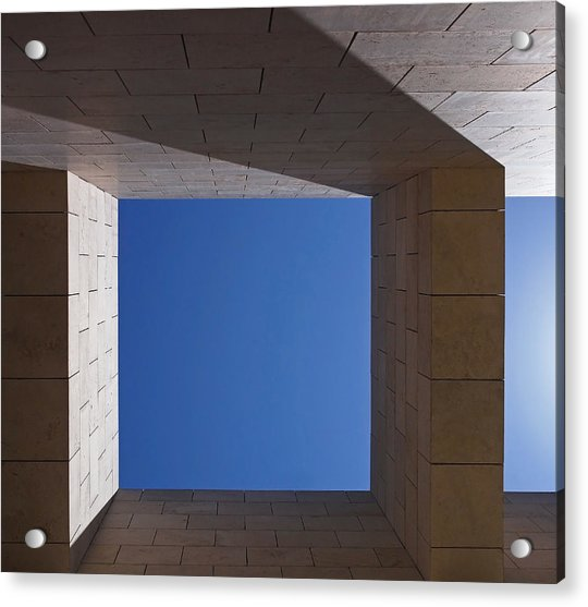 Acrylic Print featuring the photograph Sky Box At The Getty  by Rona Black