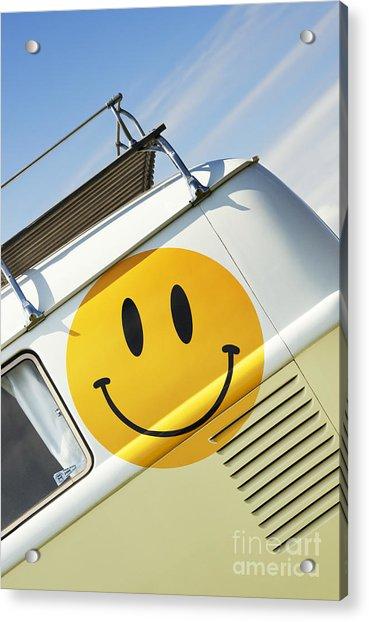 Smiley Face Vw Campervan Acrylic Print