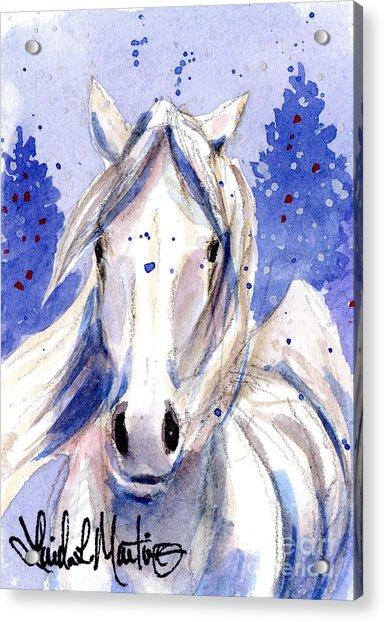 Snow Pony 2 Acrylic Print