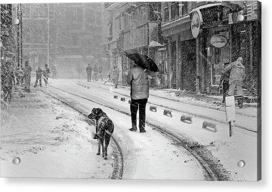 Snowy Day A?n A?stanbul Acrylic Print by Devrim ?nl?