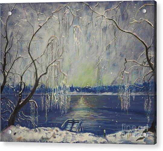 Snowy Day At The Lake Acrylic Print