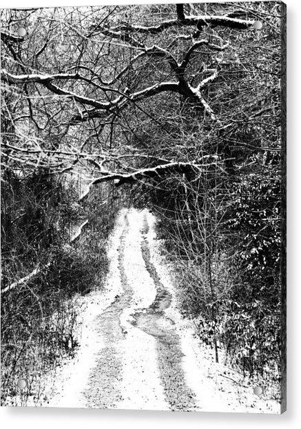 Snowy Path Acrylic Print