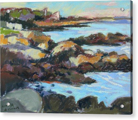 Soft Rocks At Kennebunkport Acrylic Print