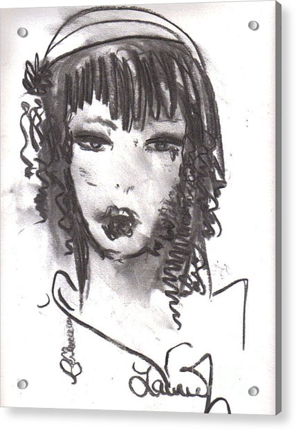Acrylic Print featuring the drawing Someday In Paris by Laurie Lundquist