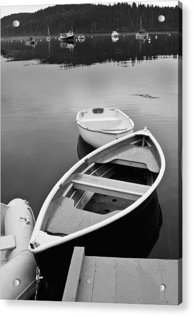 Sorrento Harbor Boats Acrylic Print