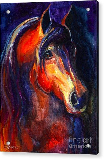 Soulful Horse Painting Acrylic Print