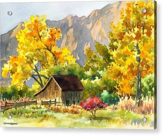 South Boulder Barn Acrylic Print