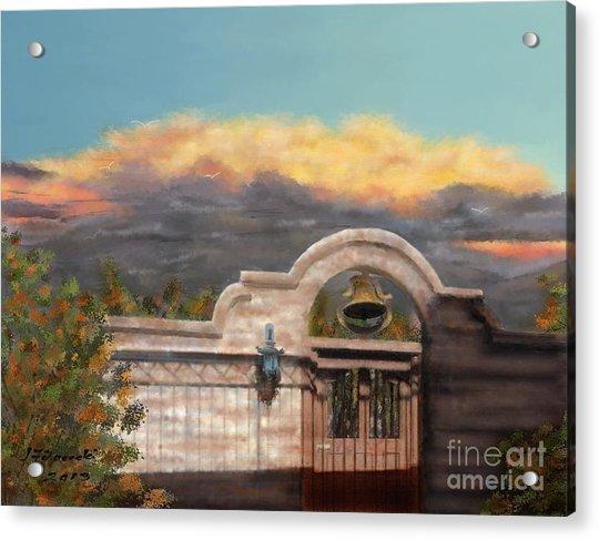 Southwestern Monsoon Sunset Acrylic Print by Judy Filarecki