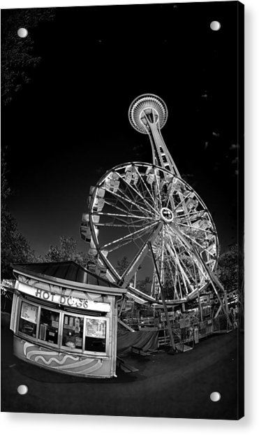Space Needle Fights The End Of The World Acrylic Print