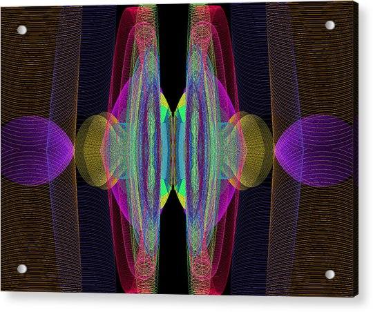 Acrylic Print featuring the digital art Speakers by Stephen Coenen