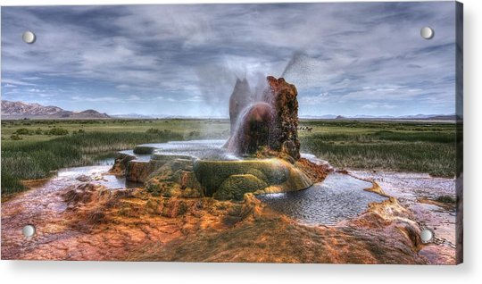 Spewing Minerals At Fly Geyser Acrylic Print