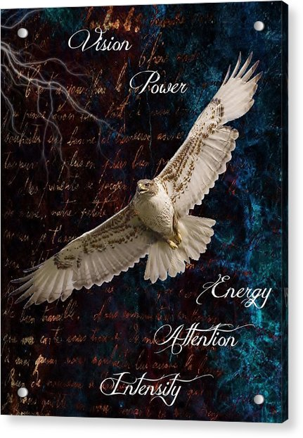 Spirit Of The Hawk Acrylic Print