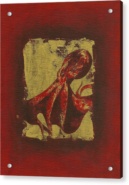 Spotted Red Octopus Acrylic Print