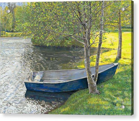 The Blue Rowboat Acrylic Print