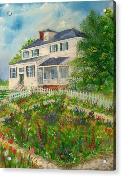 Spring In Colonial Williamsburg- Cole House Acrylic Print