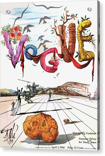 Spring Letters With A Visage Of Dali Acrylic Print