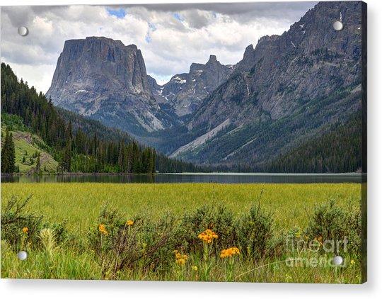 Squaretop Mountain And Upper Green River Lake  Acrylic Print