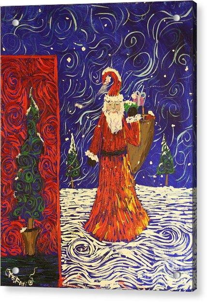 Squiggle Christmas Acrylic Print