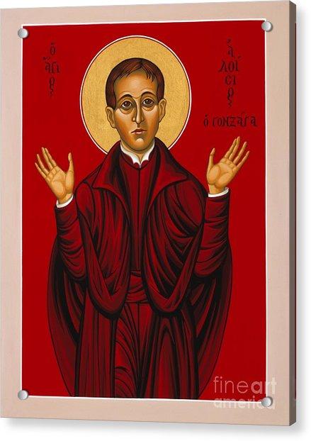 St. Aloysius In The Fire Of Prayer 020 Acrylic Print