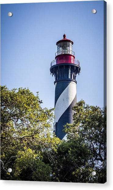 Acrylic Print featuring the photograph St. Augustine Lighthouse by Carolyn Marshall