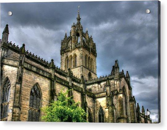 St Giles And Tree Acrylic Print