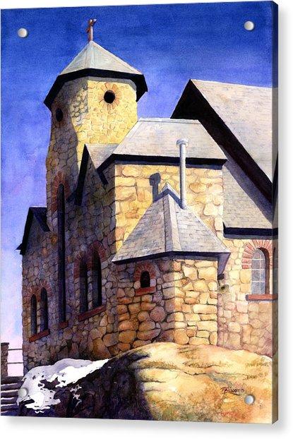 St Malo Sunset Acrylic Print by Mary Giacomini
