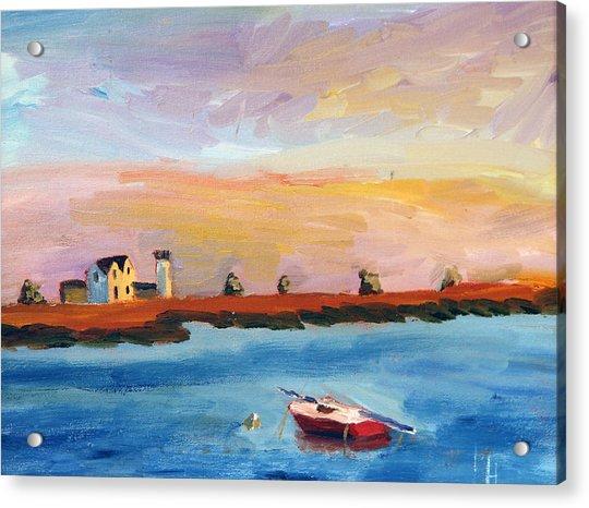 Stage Harbor Sunset Acrylic Print