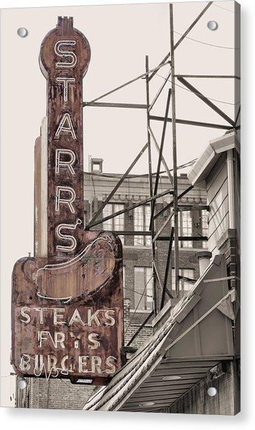 Stars Steaks Frys And Burgers Acrylic Print