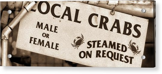 Steamed Crabs - Mike Hope Acrylic Print