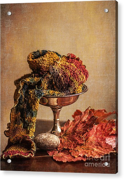 Still Life With Scarf Acrylic Print