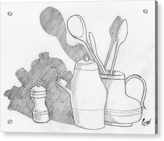 Still Life With Shadows Drawing By Bav Patel