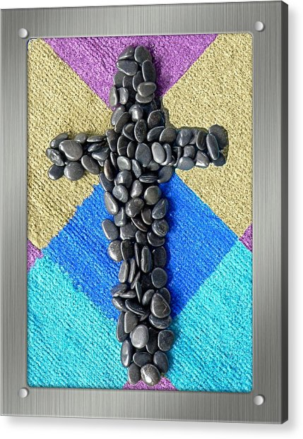 Stone Cross Acrylic Print