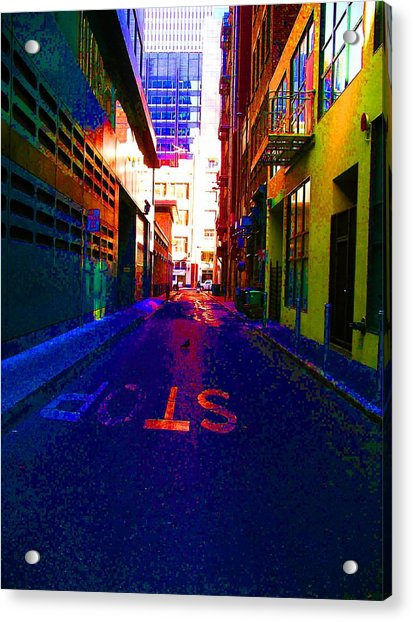 Acrylic Print featuring the photograph Stop Alley by Cynthia Marcopulos