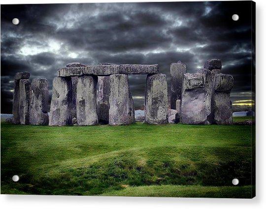 Storm Clouds Over Stonehenge Acrylic Print