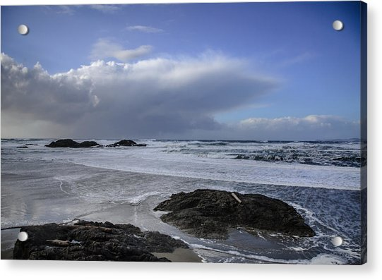 Storm Rolling In Wickaninnish Beach Acrylic Print