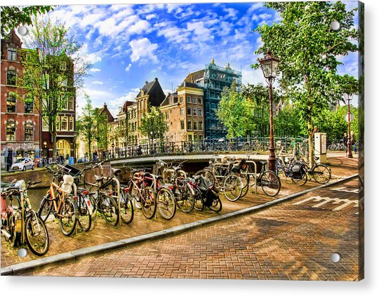 Streets Of Amsterdam Acrylic Print