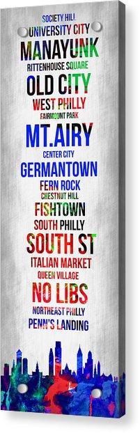 Streets Of Philadelphia 1 Acrylic Print