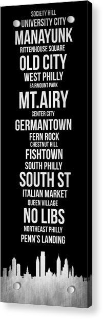 Streets Of Philadelphia 2 Acrylic Print