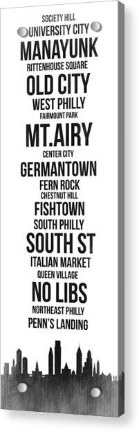 Streets Of Philadelphia 3 Acrylic Print