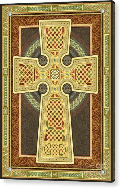 Stylized Celtic Cross Acrylic Print