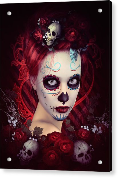 Sugar Doll Red Acrylic Print