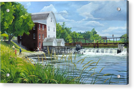 Summertime At The Old Mill Acrylic Print