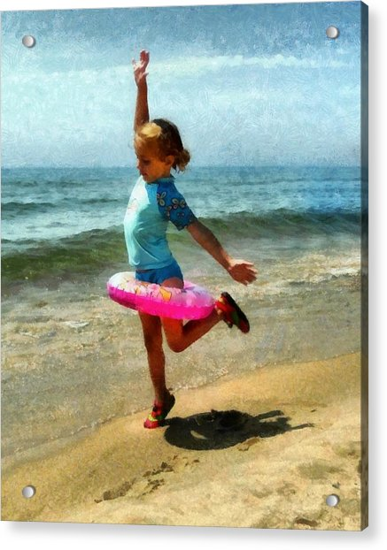Summertime Girl Acrylic Print